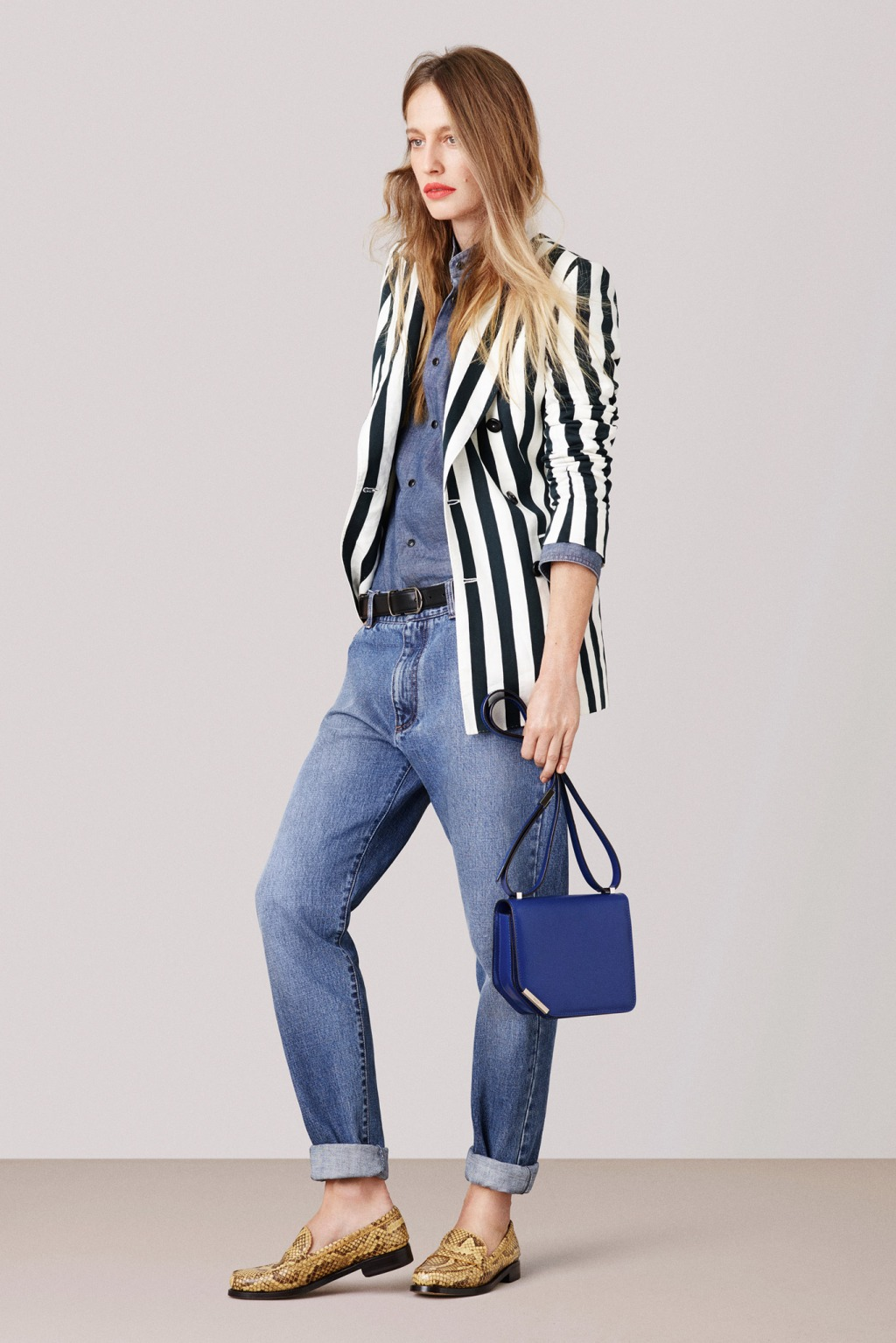 BALLY DOUBLE DENIM MODEL SPRING SUMMER 2015 FASHION WEEK