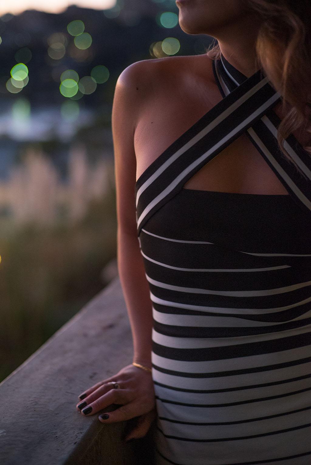 LUNA PARK BEC AND BRIDGE ZODIAC HALTER DRESS