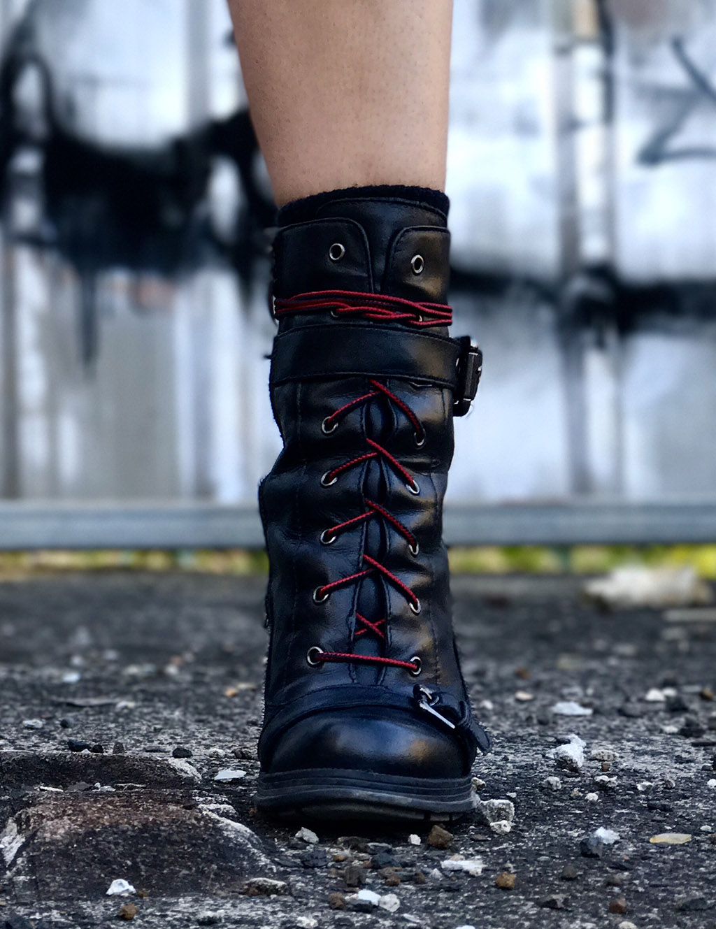 Guess Boots with Hiking Laces