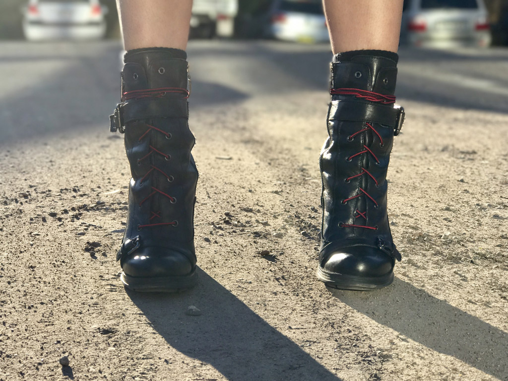Guess Boots and Hiking Laces